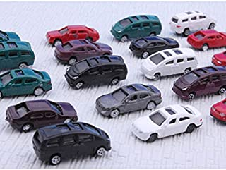 1:150 Scale Gauge N Painted Plastic Model Car for Building Train Layout (Pack of 100)