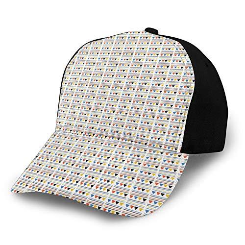 FULIYA Gorra de béisbol estructurada, banderas de fiesta con rayas, sombrero de papá para hombres y mujeres, perfil bajo ajustable