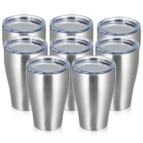 COKTIK 12 oz Tumbler, Stainless Steel, Vacuum Insulated Coffee Cup With Lid