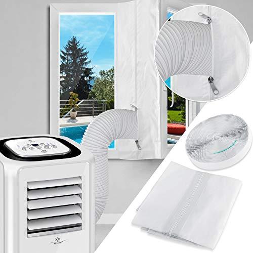 KESSER Fensterabdichtung 300cm für Mobile Klimagerät, Klimaanlage, Wäschetrockner, Ablufttrockner, Hot Air Stop zum Anbringen an Fenster, Dachfenster, Flügelfenster/Fensterabdichtung