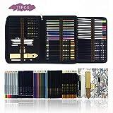 Professionale Matite Colorate Kit per Schizzo e Disegno Artistico,70 Colori Unici per Dise...