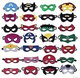 Gshy - Máscara de superhéroes para Halloween o disfraz, para niños, regalo de cumpleaños para niñas, niños y niños, 3 años, 14 unidades estilo aleatorio