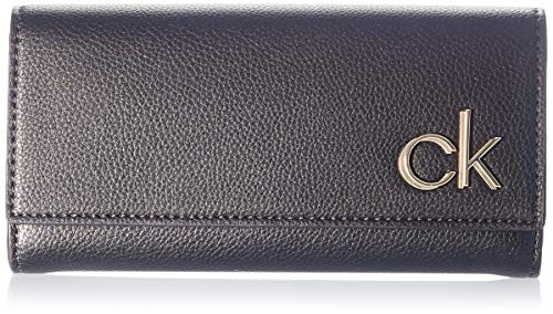 Calvin Klein Trifold LG, Accessori Portafogli da Viaggio Donna, Black, One Size
