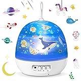 Lámpara Proyector,Iluminación Romántica con Rotación 360 Grados de Estrellas y Cosmos,Lámpara Infantil con...