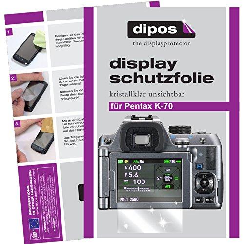 dipos I 6X Schutzfolie klar kompatibel mit Pentax K70 Folie Displayschutzfolie
