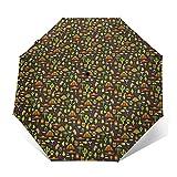 Paraguas Plegable Automático Impermeable México 776, Paraguas De Viaje Compacto A Prueba De Viento, Folding Umbrella, Dosel Reforzado, Mango Ergonómico
