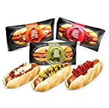 Den's Hot Dogs Assorted | Chili & Cheese | Relish & Mustard | Ketchup | World's Most Convenient Comfort Foods | Pre Made & Flash Frozen | Ready to Heat and Eat (16 Pack)