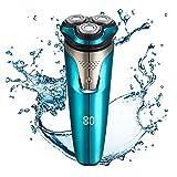 Maquinilla de afeitar eléctrica KEMEI para hombres, con pantalla LCD húmeda y seca para hombre,...
