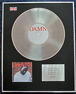Kendrick Lamar - Limited Edition CD Platinum LP Disc - Damn