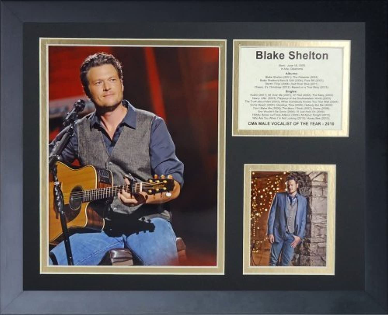 Legenden Sterben Nie Blake Shelton gerahmtes Foto Collage, 11x 35,6cm von Legends Never Die