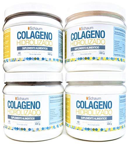 Colágeno Hidrolizado en Polvo 100% Puro, 4 Pack 400 gr. c/u.