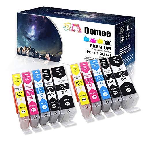 Domee Compatible para Canon 570 571 XL PGI-570XL CLI-571XL Cartuchos de Tinta para Canon PIXMA MG5700 MG5750 MG5751 MG5752 MG5753 MG6800 MG6850 MG6851 MG6852 MG6853 TS5050 TS5051 TS5053