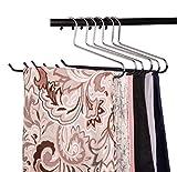 VASLIM Blanket Hangers Heavy Duty Black Vinyl Coated Nonslip - Great for Quilts, Comforters, Table Cloths, Towels, and Sleeping Bags (3 Pack)