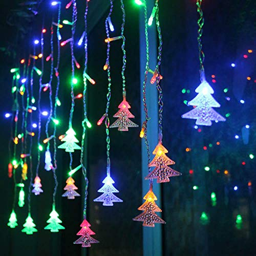 SDD Weihnachtskranz LED Vorhang Lichterkette 220V 3.5m Indoor Flutlicht LED Party Garten Outdoor Bühnendekoration Licht