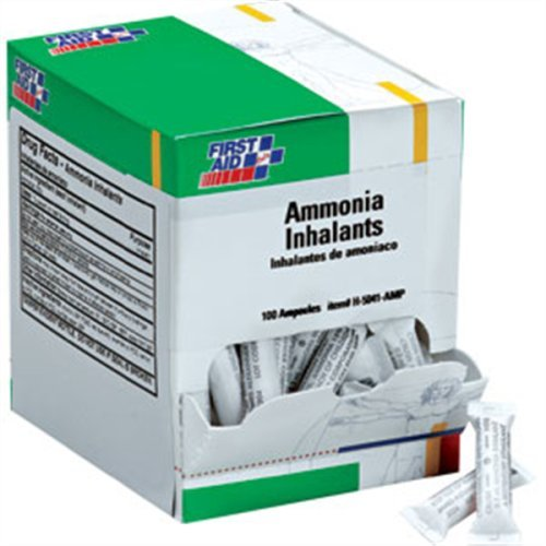 First Aid Only H5041-AMP Ammonia Inhalant Ampoules, 100/Box (Limited Edition)