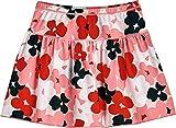 Coolibar UPF 50+ Girls' Wavecatcher Swim Skirt - Sun Protective (Medium- Red Blooming Flowers)