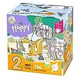 bella baby Happy Windeln Größe 2 Mini mit Urin-Indikator, 1er Pack (1 x 156 Stück) - 2