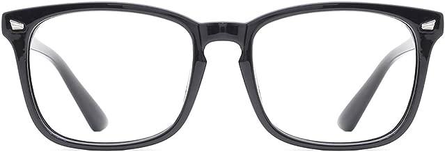 TIJN Blue Light Blocking Glasses Women Men Vintage Square Nerd Computer Glasses Anti Eyestrain