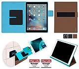 Tablet Hülle Hülle Cover Tasche Etui u.a. für Samsung Galaxy Book 12 (LTE) Apple iPad Pro 12.9 Lenovo Miix 720 Asus Transformer 3 Chuwi Surbook - Wandhalterung, KFZ-Halterung, Tischaufsteller, Schutzhülle, Anti-Gravity Hülle in braun - reboon booncover XL