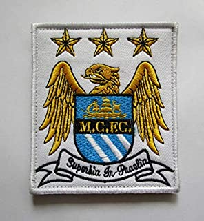 Manchester City Football Military Patch Fabric Embroidered Badges Patch Tactical Stickers for Clothes with Hook & Loop