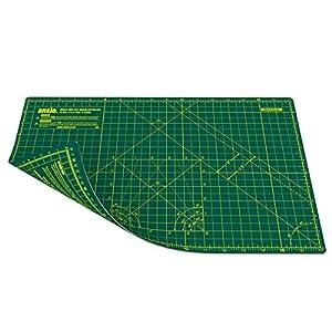 ANSIO Base de corte A3 doble cara auto curación 5 capas para Costura y Manualidades - Imperial/métrica 17 pulgadas x 11 pulgadas / 42 cm x 27 cm - Verde