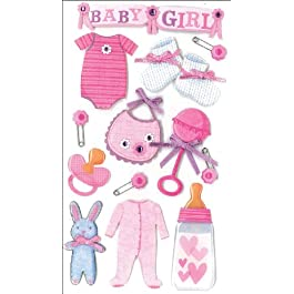 Jolee's Boutique Dimensional Stickers, Baby Girl (50-50314)