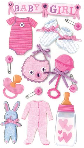 Jolee's Boutique Dimensional Stickers, Baby Girl (50-50314) |