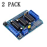 ANMBEST 2PCS L293D DC Stepper Motor Driver Board Control Shield Motor 4-Channel Expansion Board for Arduino Diecimila Duemilanove