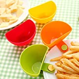 Dish Accessories - 4 Colors Tomata Sauce Dish Caster 1 3 Cup Capacity Tiered Stand Assorted Progressive Dip Clip - Accessories Cufflinks Dish Instruments