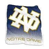Logo Brands NCAA Notre Dame Fighting Irish Raschel Throw, One Size, Team Color