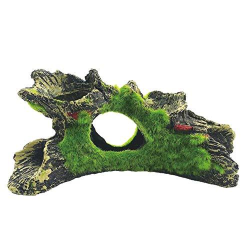アクアリウム オブジェ 人工水草/流木 水槽 アクセサリー 隠れ家 金魚水景オーナメント/爬虫類 C