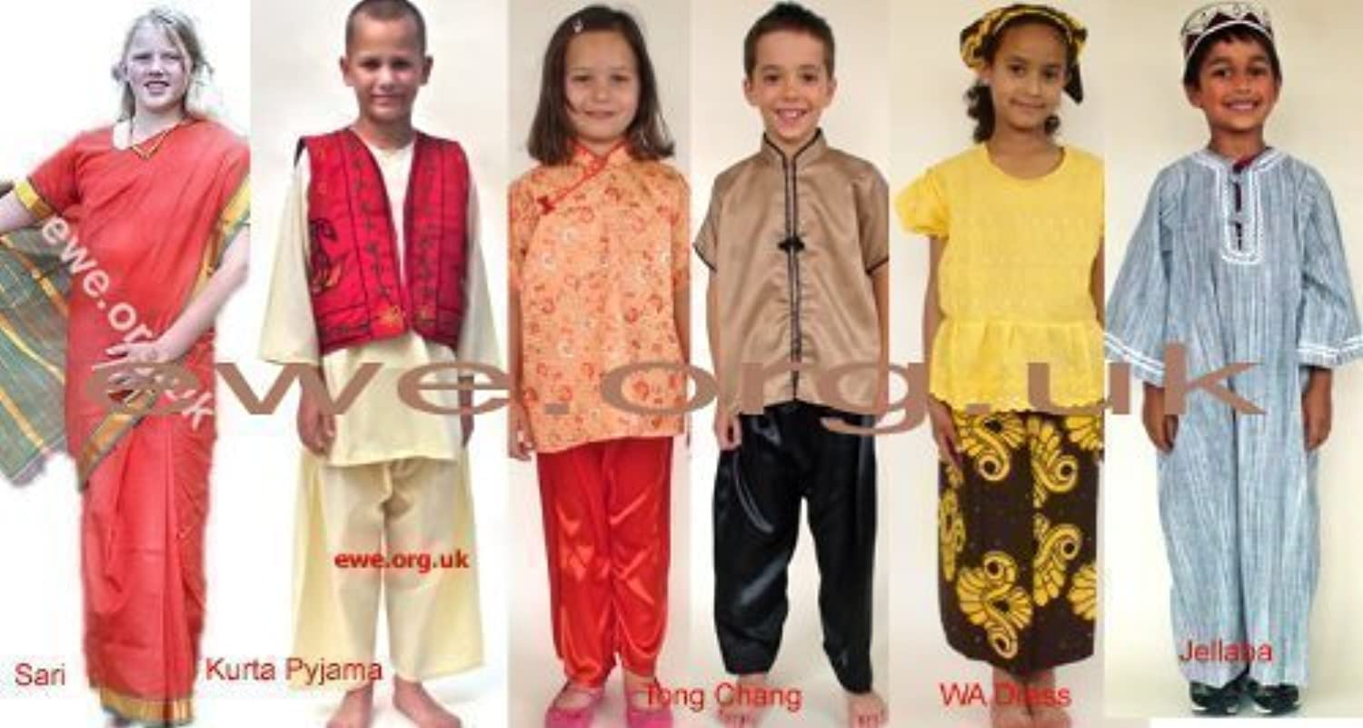 Multicultural Dressing-Up Costumes-Assorted Ethnic Costumes (4-6 years)
