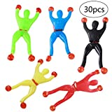 TOYMYTOY Sticky Wall Climbers 30 Stück Stretchy Man Wand Sticky Toys Kunststoff und Silikon Heikles Spielzeug für Kinder