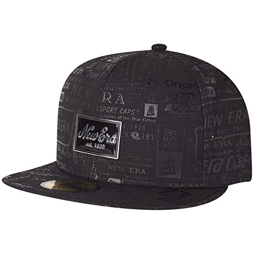 New Era 59Fifty Cap - BRAND PRINT Logo noir, Noir, 7 1/4 - (57,7cm)
