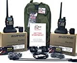 World Gone Silent Deluxe Handheld Ham Radio Emergency Kit (for Two People)