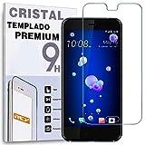 REY Protector de Pantalla para HTC U Ultra, Cristal Vidrio Templado Premium