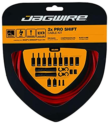 Jagwire - Universal 2X Pro Shift Cable Kit | SRAM and Shimano Compatible | 3000 mm | Red