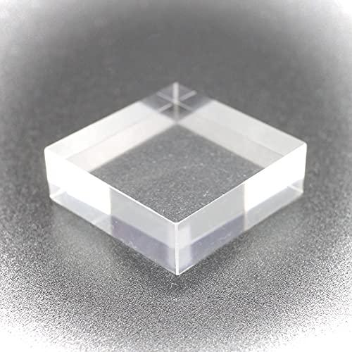 つくしサイエンス アクリルベース 5個セット S/M/L各サイズ 鉱物用 アクリルブロック ディスプレイ (30×30×10mm5個)