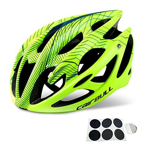 Miugwp Casco Bicicleta Unisex Adulto, Ajustable Ultraligero Cascos Bici Adultos para Hombre y Mujer Ciclismo de Montaña Motocicleta(M, L)