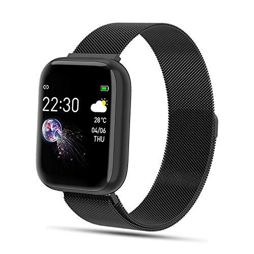 FENHOO Smartwatch, 1.4 Zoll Touchscreen Fitness Tracker mit Pulsmesser, IP68 Wasserdicht Fitness Uhr mit Schrittzähler, Blutdruck Messgeräte Sportuhr Stoppuhr Damen Herren Smart Watch für iOS Android