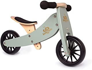 Kinderfeets TinyTot 2-in-1 Wooden Balance Bike and Tricycle - Easily Convert from Bike to Trike   Sustainable and Eco-Frie...