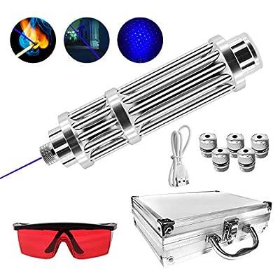 Blue High Power Laser Light, Burning Light, Outdoor Operation Signal Light,Tactical Teaching Hunting Flashlight Pen