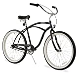 Firmstrong Urban Man Single Speed Beach Cruiser Bicycle, 24-Inch, Matte Black
