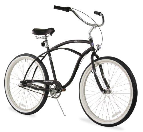 Firmstrong Urban Man Single Speed Beach Cruiser Bicycle, 26-Inch, Matte Black
