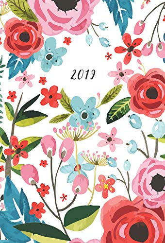 Academic/Student Year Planner 2018-2019 (CUTE FLORAL): SAMPLE - Highschool/College/Teacher Agenda Schedule Book (Daily Weekly Monthly) (English Edition)