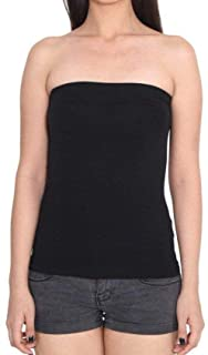 Barshini Strapless Stretchable Long Bandeau Tube Top Camisole for Girls and Women (Free Size).