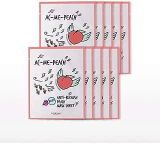 A'bloom AC-Me-Peach Anti-Blemish Peach Mask 10 Sheets