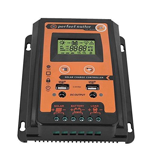 Regulador de Carga Solar MPPT, 30/50/70A Controlador con 2 Puertos USB para Placa Solar, Baterias(30A)