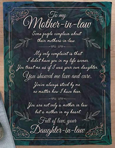 Personalized You are Not Only A Mother in Law Fleece Blanket to My Mother-in-Law for Mother in Law Blanket for Mother's Day Mother of Husband Gifts Fleece, Sherpa Blanket Gifts