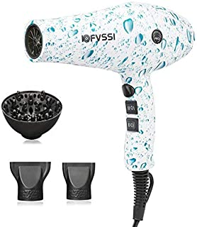 Hair Dryer IOFVSSI 1875W Professional Hair Dryer Long Life AC Motor Low Noise Cold Shot & 2 Speeds and 3 Heating Hettings Styling Tool for Home&Salon Use